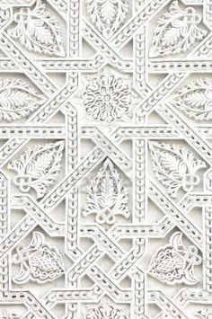 White pattern + texture.