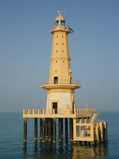 Lighthouse in the United Arab Emirates in the Middle East, bordering the Gulf of Oman and the Persian Gulf, between Oman and Saudi Arabia