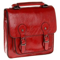 Red square satchel www.beehappyhome.co.uk