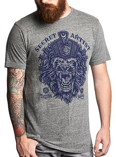 "Men's ""King Of Kings"" Tee by Secret Artist Clothing (Heather Grey) #inkedshop #kingofkings #greytop #menstee #tee"