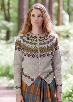 Ravelry: Hawthorn pattern by Marie Wallin Cardigan Design, Summer Sweaters, Fair Isles, Knit In The Round, Fair Isle Knitting, Mode Vintage, Tweed, Knitting Patterns, Knitting Projects