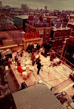 The Rooftop Concert, The Beatles, Jan 1969, The Apple Building, Saville Row, London