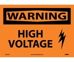 Warning, HIGH VOLTAGE, GRAPHIC, 10X14, PS Vinyl