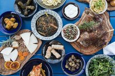 Time to feast - Our epicurean story concludes with a Cretan feast laid out in an array of authentic delicacies. Good music, endless dancing and a full moon by the sea. #Crete #Island #Food #Cuisine #Cretan #Feast #Epicurean #Journey #Greece