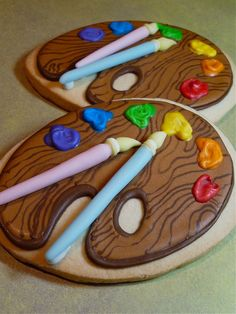 Paint Palette Cookies-too cute! lots of work though im sure