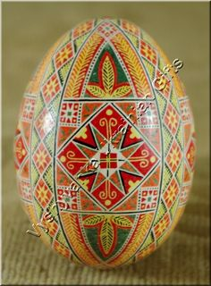 Real Easter Egg Pysanka Ukrainian , from Iryna with love
