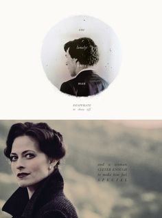 "Sherlock + Irene Adler. ""One lonely, naive man desperate to show off, and one woman clever enough to make him feel special."" - Mycroft"