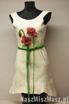 Felt dress with puppy Felt, Summer Dresses, Tunics, How To Wear, Fashion, Moda, Felting, Summer Sundresses, Tunic