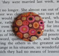Orange and Yellow Circle Round Button Fabric by CraftiliciousCats, £1.50