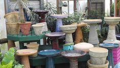 Take a look a 10 photos antique bird bath for backyard decoration : Bird Bath Tops. Modern Bird Feeders, Pine Garden, Bird Bath Fountain, Bird Cages, Planter Pots, Backyard, Pottery, Baths, Plants