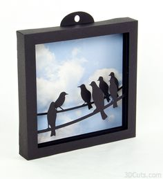 3d Paper shadow box tutorial for use with 4 layer cutting files by  3dCuts.com. Marji Roy designs 3D cutting files in .svg, .dxf, and .pdf  formats for use with Silhouette and Cricut cutting machines, paper crafting  files, complete tutorials included.