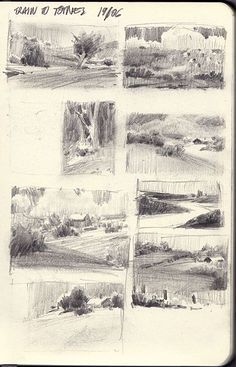 Will Gist: Sketchbook Plus You are in the right place about dessin croquis homme Here we offer you t Landscape Sketch, Landscape Drawings, Landscape Art, Landscape Paintings, Art Drawings, Art Sketches, Drawing Faces, Sketchbook Layout, Artist Sketchbook