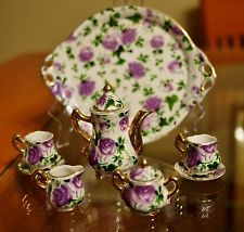 collectable  miniture tea sets | bidding on a used Victorian miniature tea set. This is a 10-piece set ...
