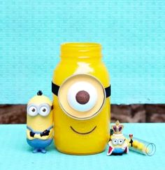 Cute Little Minion From Mason Jar.  #Family #Kids #Trusper #Tip