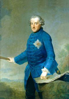Portrait of King Friedrich II of Prussia by Johann Georg Ziesenis. 1763.