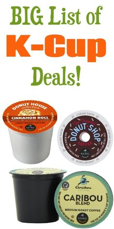 BIG List of K-Cup Deals ~ as low as 42c each + FREE Shipping!! #keurig #kcups #thefrugalgirls