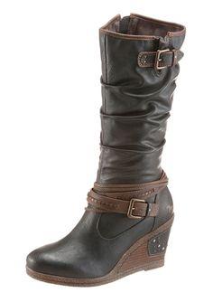 4053974602110 | #MUSTANG #Damen #Shoes #Keilstiefel #grau