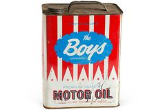 """Vintage Motoe Oil Can """"The Boys""""..   For those oil can collectors.."""