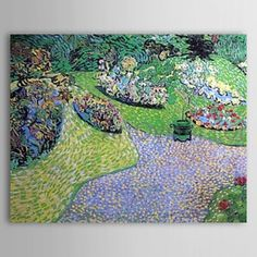 Famous Oil Painting Garden in Auvers 400 by Van Gogh - WallArtBox