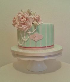21st Birthday cake - by THE BRIGHTON CAKE COMPANY @ CakesDecor.com - cake decorating website