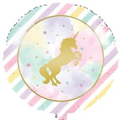 Metallic Unicorn Large Foil Balloon Party Supplies Canada - Open A Party