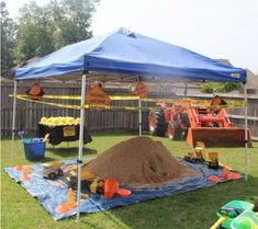 Digger and Construction Party Ideas If you live with little boys, then the chances are you will have a few trucks, diggers and other construction vehicles lying around your house!  If you think trying to plan a digger and construction party for your child will be difficult – there is no need to panic as we are here to help! #constructionparty #boysparty #partyideas
