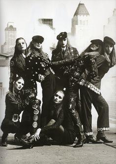 Dolce & Gabbana F/W 1992/'93, Photographer: Steven Meisel, Models: Jane Powers, Meghan Douglas, Nadja Auermann, Susan Holmes, Tyra Banks, Kate Moss & Angelika Kallio