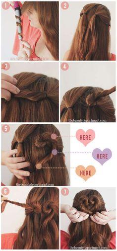 Un coeur d'amour.14 tutos de coiffures de mariage faciles à faire soi-même