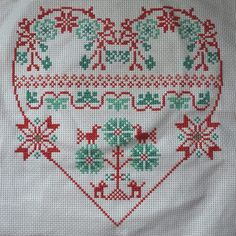 Heart panel  (to be made into a cushion) for the Kids Company 'Heart Yard' project - stitched November 2013