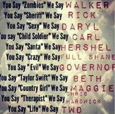 Image about life in TheWalkingDead,Supernatural,Izombie,tvd…(horror/mystery) by Nancy You Say Sexy We Say Daryl! The Walking Dead. Carl The Walking Dead, The Walk Dead, Walking Dead Quotes, Walking Dead Funny, Walking Dead Zombies, Walking Dead Cast, Carl Grimes, I Love Series, Tv Series