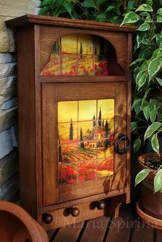 Ключница с имитацией панно из керамической плитки - Ярмарка Мастеров - ручная работа, handmade