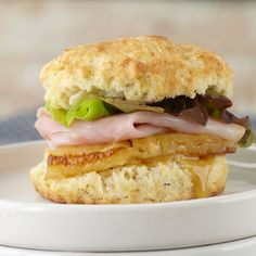 Ham & Pineapple Biscuit Sliders from Stonewall Kitchen