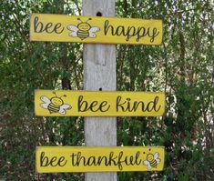 Honey Store, Bee Quotes, Happy Signs, Bee Creative, Creative Ideas, Bee Farm, Bee Crafts, Wood Crafts, Bee Theme