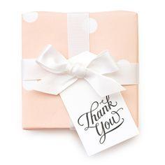 グリーティングカード専門店 | シュガーペーパー/ギフトタグ10枚セット/Thank You Calligraphy | Paper Tree