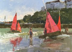 Redwings at Looe, oil painting by Haidee-Jo Summers