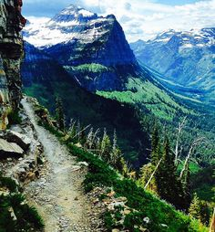 Here's a view that'll stop you in your tracks. This photo was taken from Glacier National Park's iconic Highline Trail two weeks ago. Highline Trail provides access to some of the most stunning views of the park. iPhoto courtesy of Oliver Goodman. Glacier National Park Montana, Glacier Park, Yellowstone National Park, National Parks, Best Places To Camp, Places To Travel, Places To See, Big Sky Country, Nature Pictures