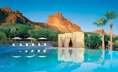 Gorgeous resort, Sanctuary at Camelback Mountain in AZ, one of our top 20 most romantic resorts.