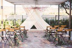 soft, romantic ceremony