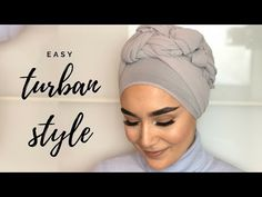 Turban style Hi Guys! Do you need a simple, fashionable and comfortable turban style? Then this tutorial w Turban Hijab, Turban Mode, Head Turban, Turban Tutorial, Hijab Style Tutorial, Pashmina Hijab Tutorial, Bridal Hijab, Hijab Wedding Dresses, Hijab Outfit