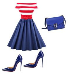 """USA"" by oliviaw09 on Polyvore featuring Christian Louboutin and Proenza Schouler"