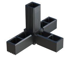 Blanco Juego De 8 SODIAL Wire Conectores Cuadrados De Pl/áStico para la Unidad De Estanter/íA De Almacenamiento Cuadrado Organizador Modular De Armarios y Rejillas De Alambre