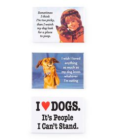 Look what I found on #zulily! Ephemera 'I Love Dogs' Magnet Set by Ephemera #zulilyfinds
