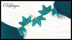 Leaf clusters micro macrame bracelet