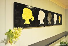 Creatively Living: My Silhouette Art (With the Kids Wednesday!)
