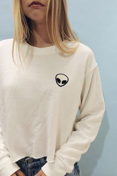 Brandy ♥ Melville | Nancy Alien Patch Sweatshirt - Graphics