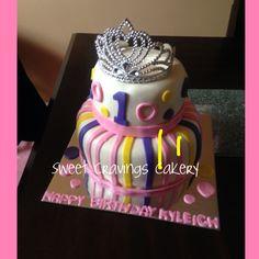 Polka dots and stripes princess cake