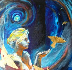Goddess Of The Sky Painting by Susan Davies