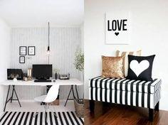 quarto preto e branco feminino - Pesquisa Google