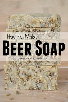 How to Make Beer Soap - an easy DIY recipe for soapmaking at home. Use your spent grains from homebrewing to make this fabulous soap.