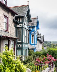 Colorful houses in Kendal, Cumbria, England